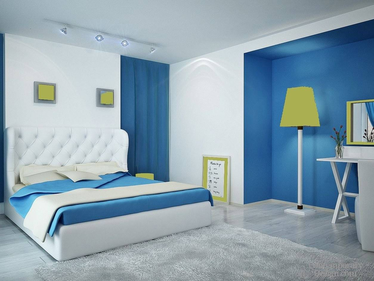 Wall Colour Combination Small Bedroom Homes Decor