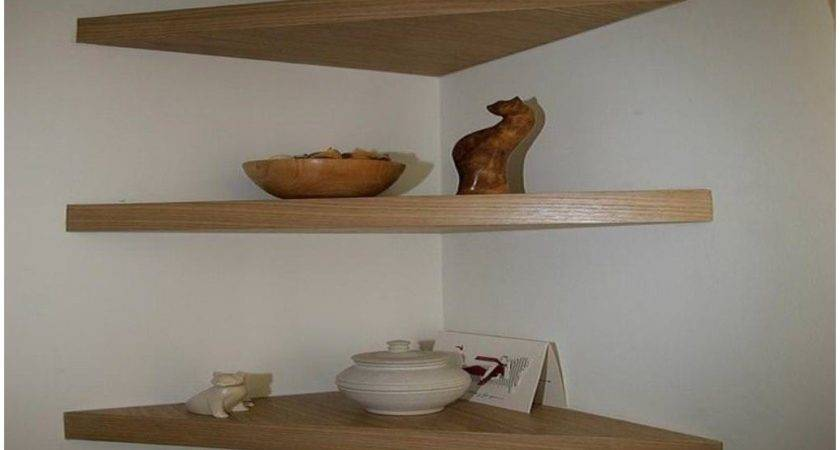 Wall Mount Corner Shelf Wood