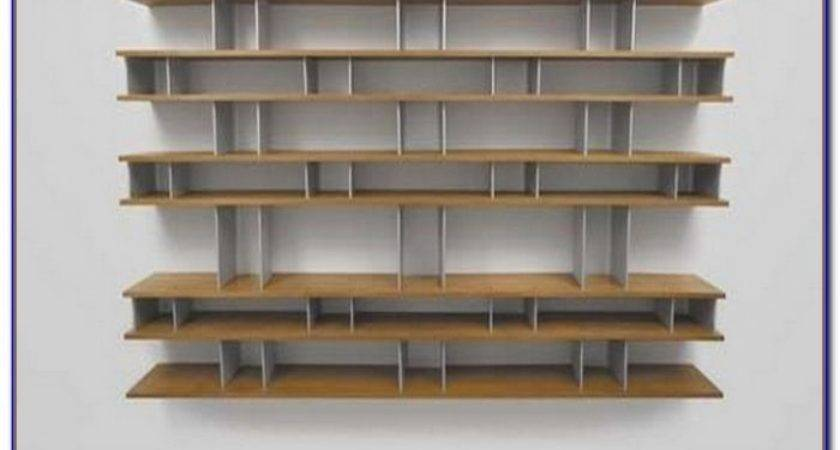 Wall Mounted Bookcase Shelves Home Decorating