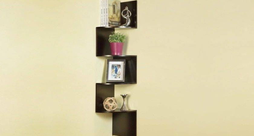 Wall Mounted Corner Bookcase Groupon Goods