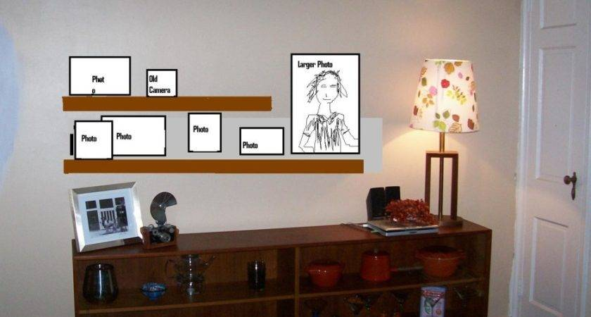 Wall Mounted Corner Units Living Room Combined Stained