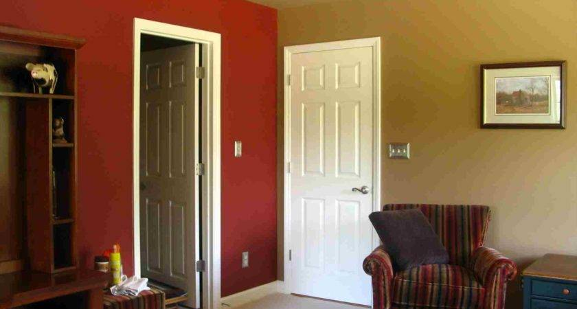 Wall Paint Two Color Combination Curtain Pink