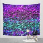Wall Tapestry Purple Blue Teal Stars Sweetswhimsy