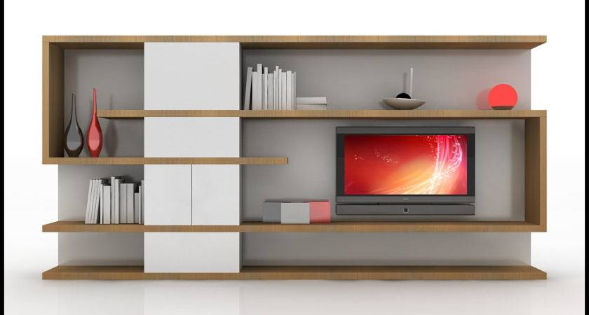 Wall Unit Modern Design Home Media Center