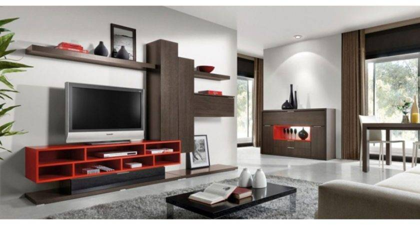 Wall Units Living Room Contemporary Best