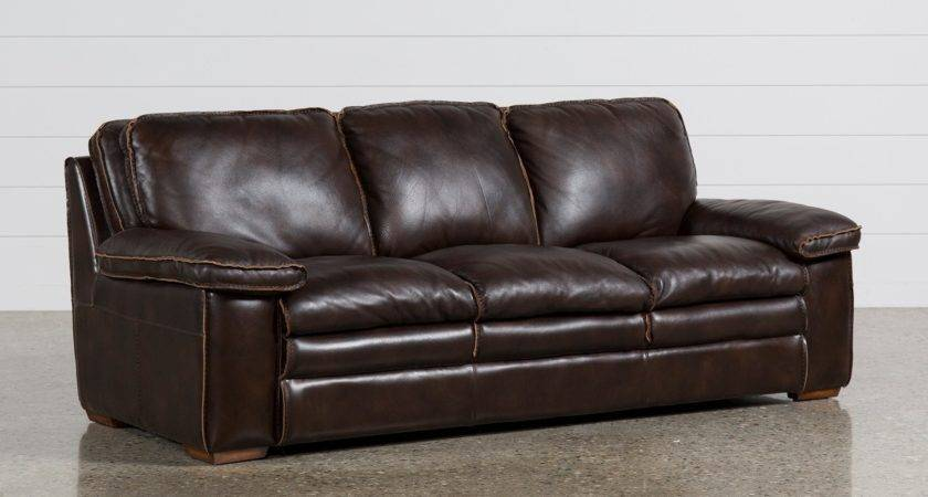 Walter Leather Sofa Living Spaces