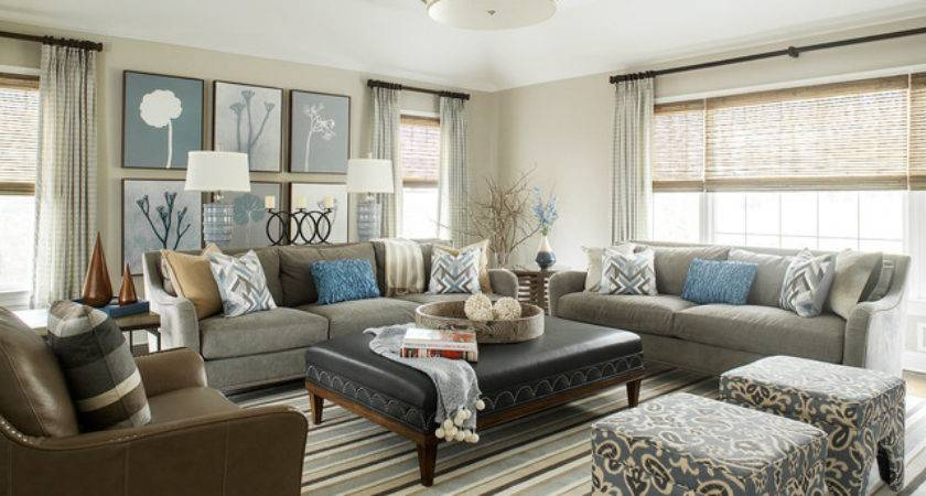 Warm Gray Room Transitional New