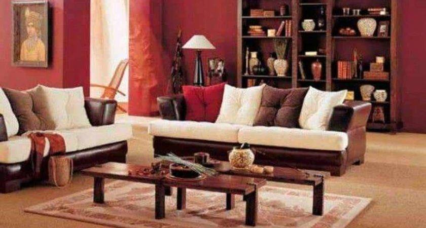 Warm Living Room Decorating Ideas Red Walls