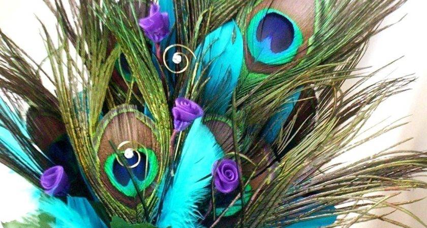 Wedding Cake Topper Peacock Feathers Turquoise Amorebride