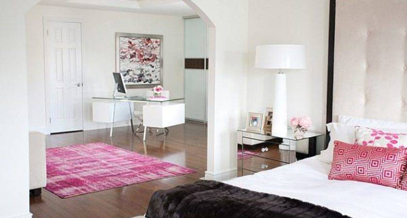 White Bedroom Pink Accents Decoist