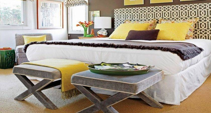 White Bedroom Walls Yellow Brown