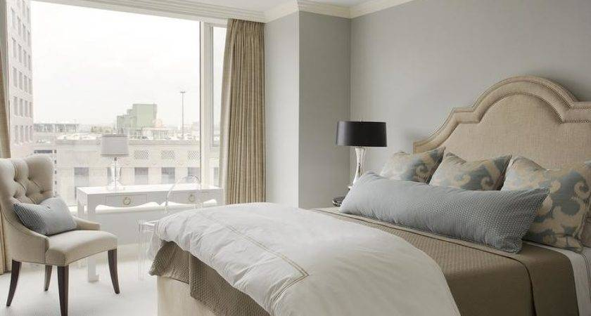 White Beige Bedroom Ideas Traditional