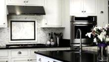 White Black Kitchens Grasscloth