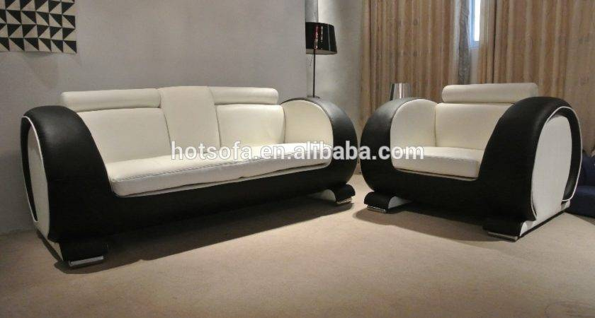 White Black Leather Sofa Set New Design Buy