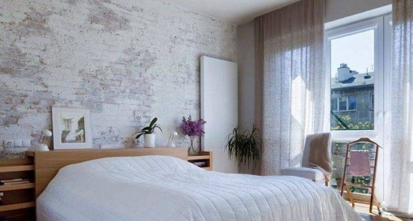 White Brick Walls Contemporary Bedrooms Rilane
