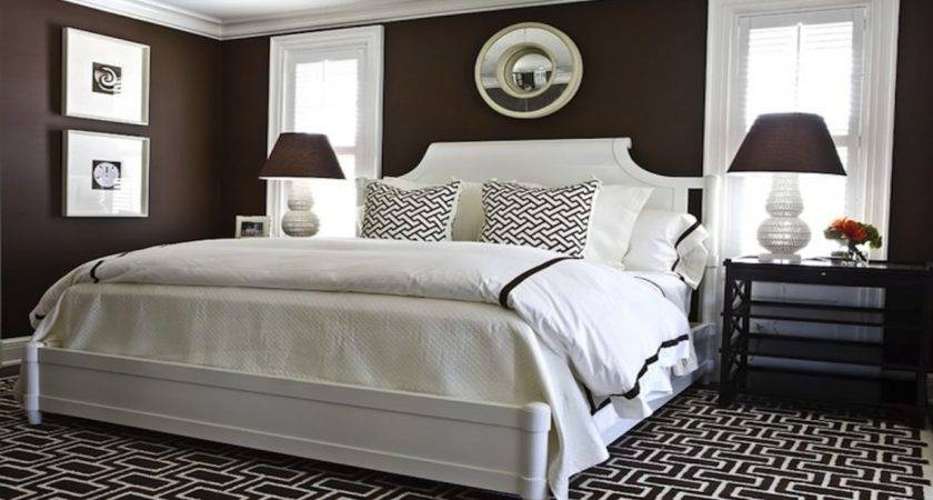 White Brown Bedding Chocolate Bedroom Ideas