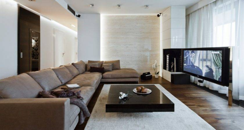 White Brown Living Room