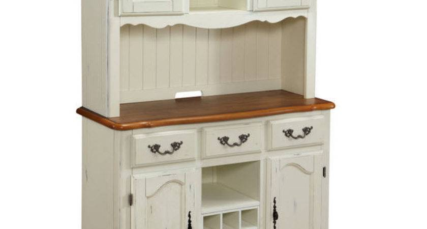 White Buffet Hutch Kitchen Country Style Dining Room China