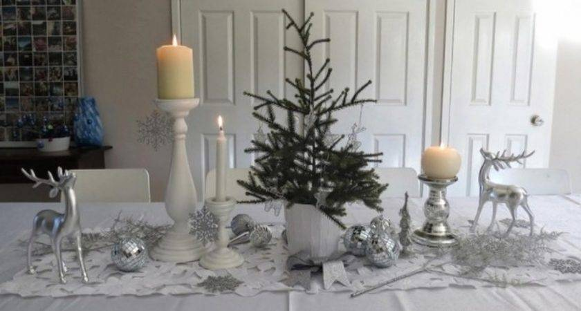 White Christmas Table Decoration Ideas Dining Room
