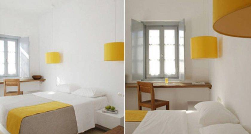 White Curtains Yellow Decosee