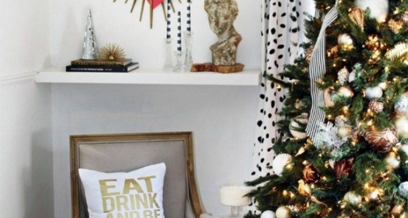 White Gold Christmas Decorating Ideas