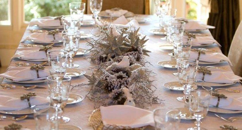 White Gold Christmas Table Decorations Best