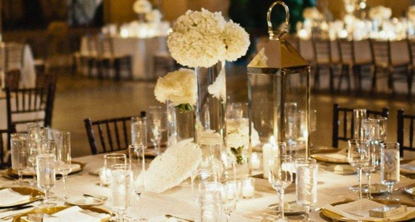 White Gold Reception Tables