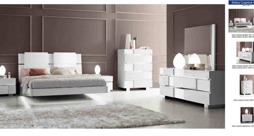 White High Gloss Bedroom Furniture Raya