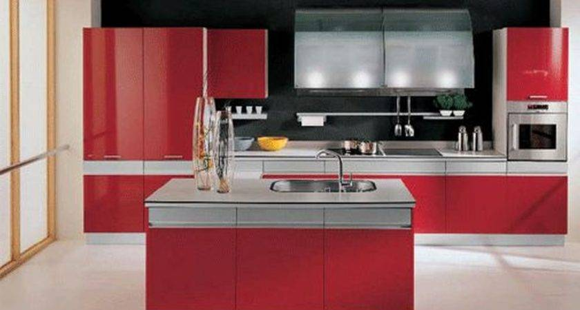 White Kitchen Red Black Grey Kitchens