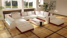 White Leather Sofa Design Living Room Ideas