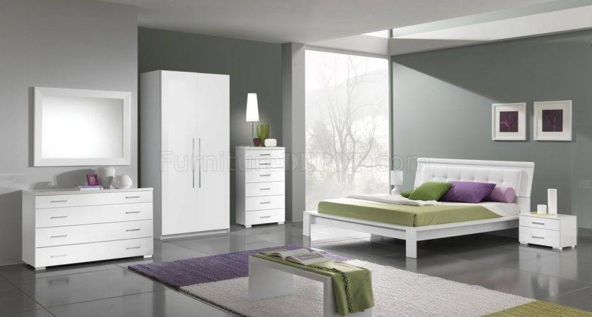 White Modern Bedroom Furniture Finish