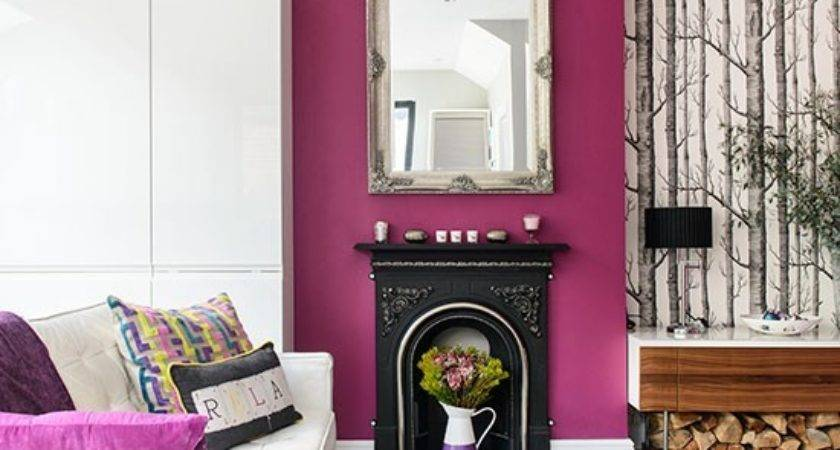 White Purple Living Room Decorating Housetohome
