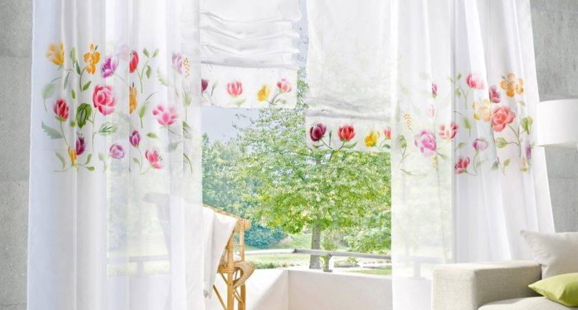 White Rustic Curtain Living Room Window Curtains Tulle