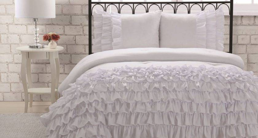 White Shabby Chic Bedding Ruffled Frilly