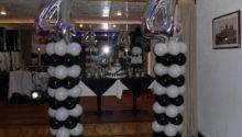 White Silver Black Party Decorations Teresa