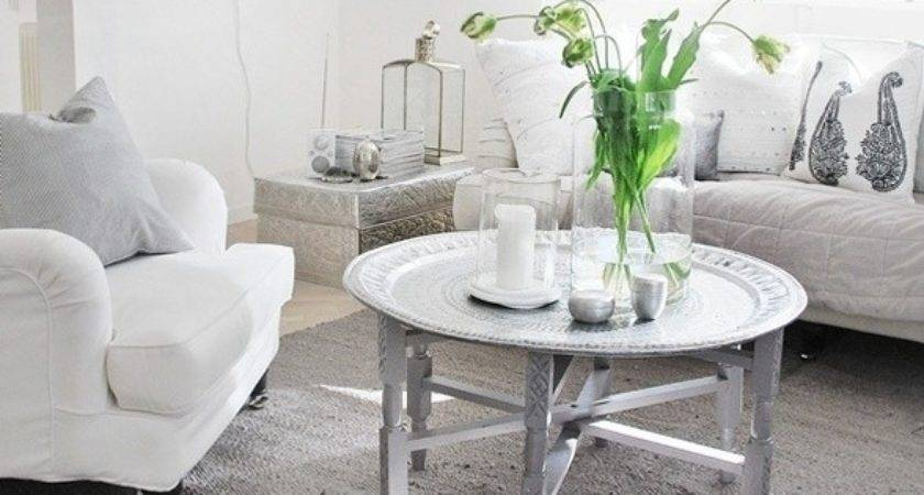 White Silver Perfect Room Inspiration Pinterest