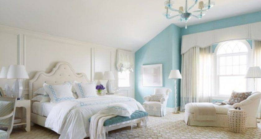 White Turquoise Bedroom Decorating Idea