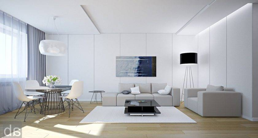 White Wall Living Room Decor Home Decorations