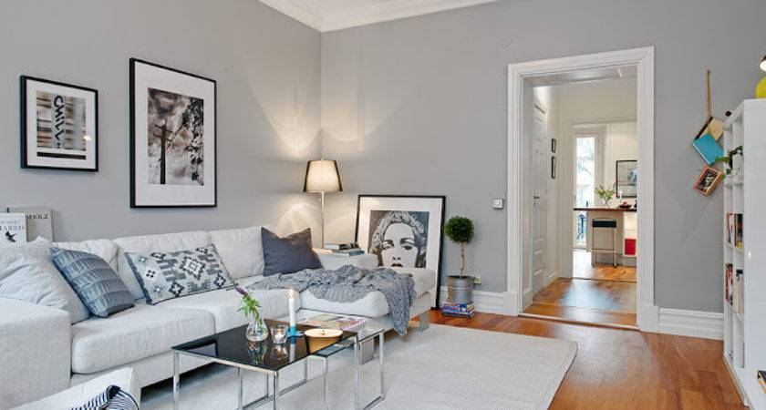 White Walls Dark Grey Feature Wall Hall Homes Decor