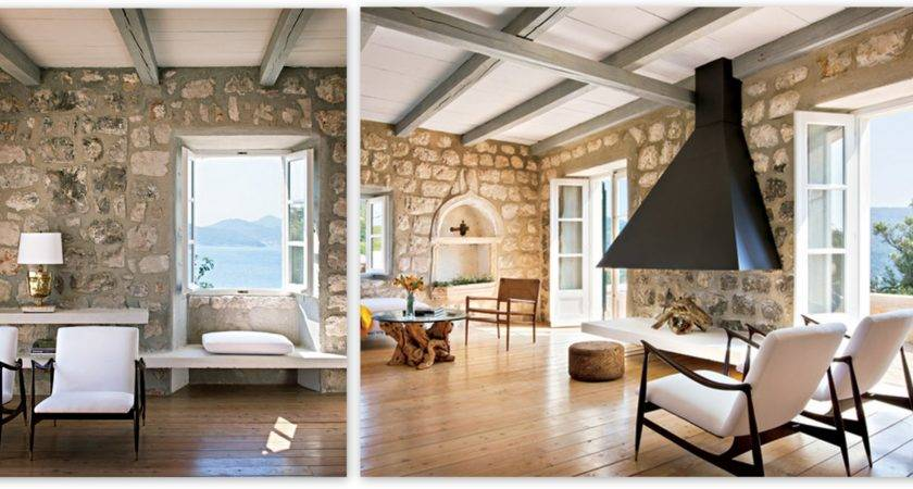 Whitewashed Stone Archives Loved Home