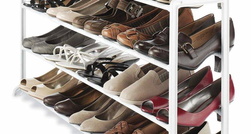 Whitmor White Pair Shoe Rack Storage Organizer Holder