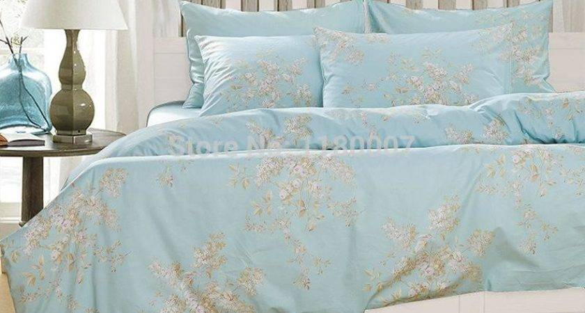 Wholesale Light Sky Blue Shabby Chic Bedding Floral