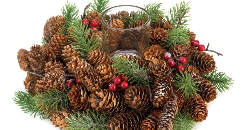 Wholesale Pine Cone Wreath Candleholder Buy