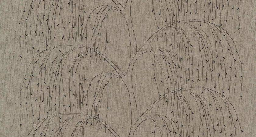 Willow Sheer Fabric Charcoal Cappuccino