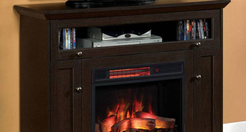 Windsor Cabinet Oak Espresso Infrared Firebox