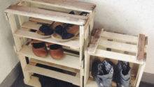 Wine Crate Shoe Storage Weekend
