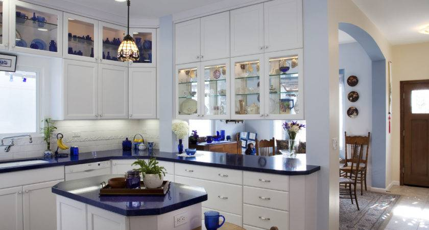 Wonderful Cobalt Blue Glass Kitchen Canisters Decorating