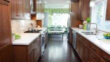 Wonderful Galley Kitchen Island Layout Cool Ideas