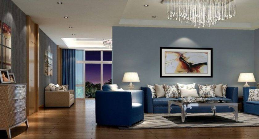 Wonderful Royal Blue Living Room Comely