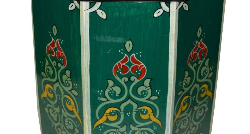 Wood Painted Table Green Moroccan Furniture